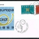 Sellos: [CF5192A] LUXEMBURGO 1963, FDC SERIE EUROPA (NS). Lote 164881482