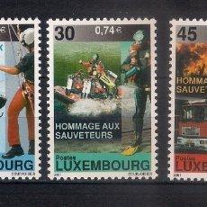 Sellos: LUXEMBURGO 2001 ** NUEVO EQUIPOS DE RESCATE - 6/10. Lote 169178260