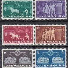Sellos: LUXEMBURGO, 1951 YVERT Nº 443 / 448 **/* . Lote 172373872