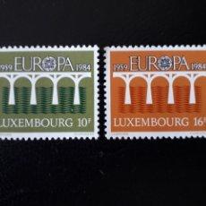 Sellos: LUXEMBURGO YVERT 1048/9 SERIE COMPLETA NUEVA SIN CHARNELA. EUROPA CEPT. PUENTES. Lote 173490654