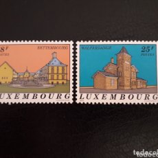 Sellos: LUXEMBURGO YVERT 1241/2 SERIE COMPLETA NUEVA SIN CHARNELA. ARQUITECTURA. Lote 173515900