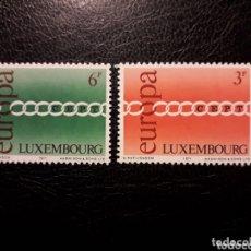 Sellos: LUXEMBURGO YVERT 774/5 SERIE COMPLETA NUEVA SIN CHARNELA. EUROPA CEPT.. Lote 173609965