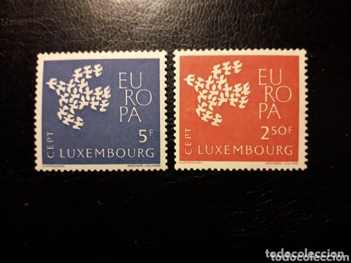 LUXEMBURGO YVERT 601/02 SERIE COMPLETA NUEVA SIN CHARNELA. EUROPA CEPT. (Sellos - Extranjero - Europa - Luxemburgo)