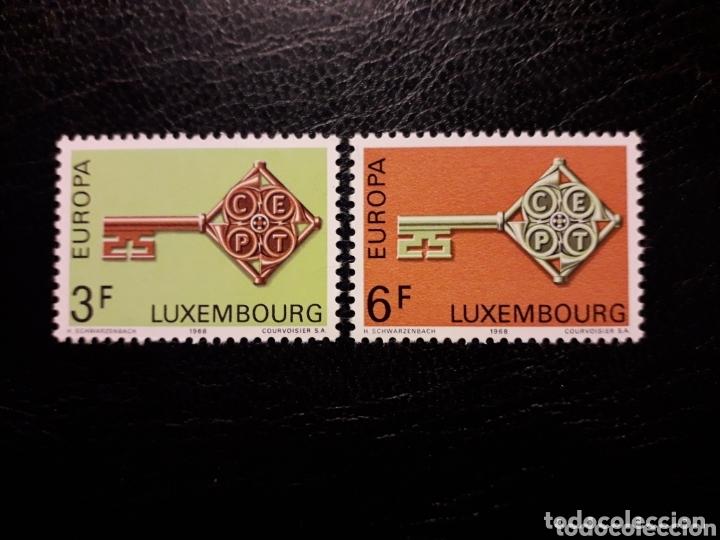 LUXEMBURGO YVERT 724/5 SERIE COMPLETA NUEVA SIN CHARNELA. EUROPA CEPT. (Sellos - Extranjero - Europa - Luxemburgo)
