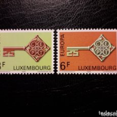 Sellos: LUXEMBURGO YVERT 724/5 SERIE COMPLETA NUEVA SIN CHARNELA. EUROPA CEPT.. Lote 173682845