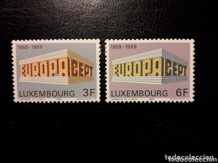 LUXEMBURGO YVERT 738/9 SERIE COMPLETA NUEVA SIN CHARNELA. EUROPA CEPT. (Sellos - Extranjero - Europa - Luxemburgo)