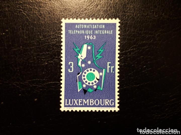 LUXEMBURGO YVERT 637 SERIE COMPLETA NUEVA SIN CHARNELA. TELÉFONO (Sellos - Extranjero - Europa - Luxemburgo)