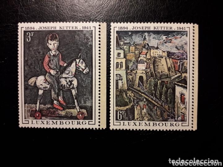 LUXEMBURGO YVERT 741/2 SERIE COMPLETA NUEVA SIN CHARNELA. PINTURAS. JOSEPH KUTTER (Sellos - Extranjero - Europa - Luxemburgo)