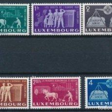 Sellos: SELLOS LUXEMBURGO 1951 Y&T 443/48** UNIÓN EUROPEA ALTO VALOR DE CATÁLOGO. Lote 178066170