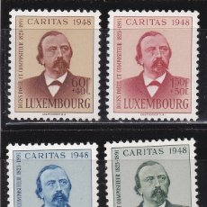 Sellos: LUXEMBURGO 1948 BENEFICIENCIA CARITAS NUEVOS ** (NMH) - LOTE - 85 - C. Lote 179050095
