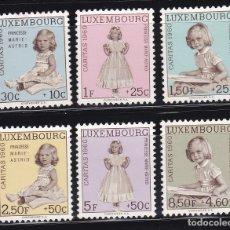 Sellos: LUXEMBURGO 1960 BENEFICIENCIA CARITAS NUEVOS ** (NMH) - LOTE - 85 - D. Lote 179050157