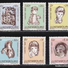 Sellos: LUXEMBURGO 1968 BENEFICIENCIA CARITAS NUEVOS ** (NMH) - LOTE - 85 - H. Lote 179050398