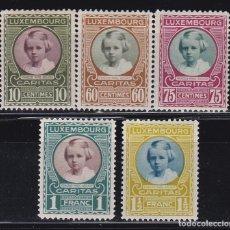 Sellos: LUXEMBURGO 1928 BENEFICIENCIA CARITAS NUEVOS * (MH) - LOTE - 86 - A. Lote 179050605