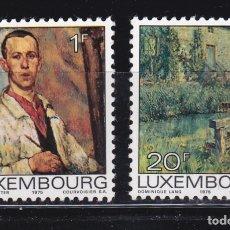 Sellos: LUXEMBURGO 1975 PINTURA NUEVOS ** (NMH) - LOTE - 86 - F. Lote 179050882