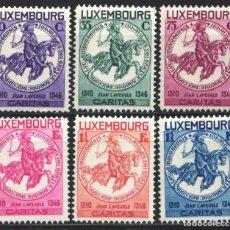 Sellos: LUXEMBURGO, 1934 YVERT Nº 252 / 257 /*/, AYUDA A LOS NIÑOS, JUAN EL CIEGO. Lote 179061408