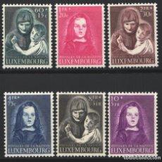 Sellos: LUXEMBURGO, 1950 YVERT Nº 433 / 438 /*/, HUÉRFANOS DE GUERRA. Lote 179061537