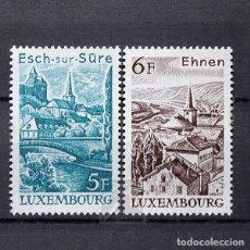 Sellos: LUXEMBURGO 1977 ~ PAISAJES ~ SERIE NUEVA MNH LUJO. Lote 180349175