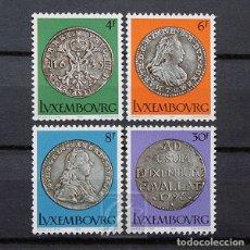 Sellos: LUXEMBURGO 1981 ~ CULTURA: MONEDAS DEL SIGLO XVII Y XVIII ~ SERIE NUEVA MNH LUJO. Lote 180386298