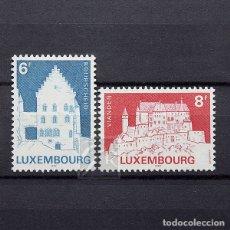 Sellos: LUXEMBURGO 1982 ~ ARQUITECTURA: EDIFICIOS HISTÓRICOS ~ SERIE NUEVA MNH LUJO. Lote 180386836