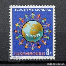 Sellos: LUXEMBURGO 1982 ~ ANIVERSARIO DEL MOVIMIENTO BOY SCOUT ~ SELLO NUEVO MNH LUJO. Lote 180387027