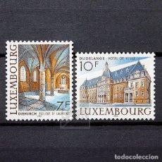 Sellos: LUXEMBURGO 1983 ~ ARQUITECTURA ~ SERIE NUEVA MNH LUJO. Lote 180387088