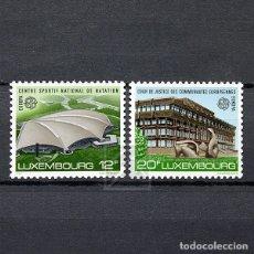 Sellos: LUXEMBURGO 1987 ~ EUROPA: ARQUITECTURA MODERNA ~ SERIE NUEVA MNH LUJO. Lote 180387935