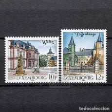 Sellos: LUXEMBURGO 1988 ~ TURISMO: WILTZ Y DIFFERDANGE ~ SERIE NUEVA MNH LUJO. Lote 180388345