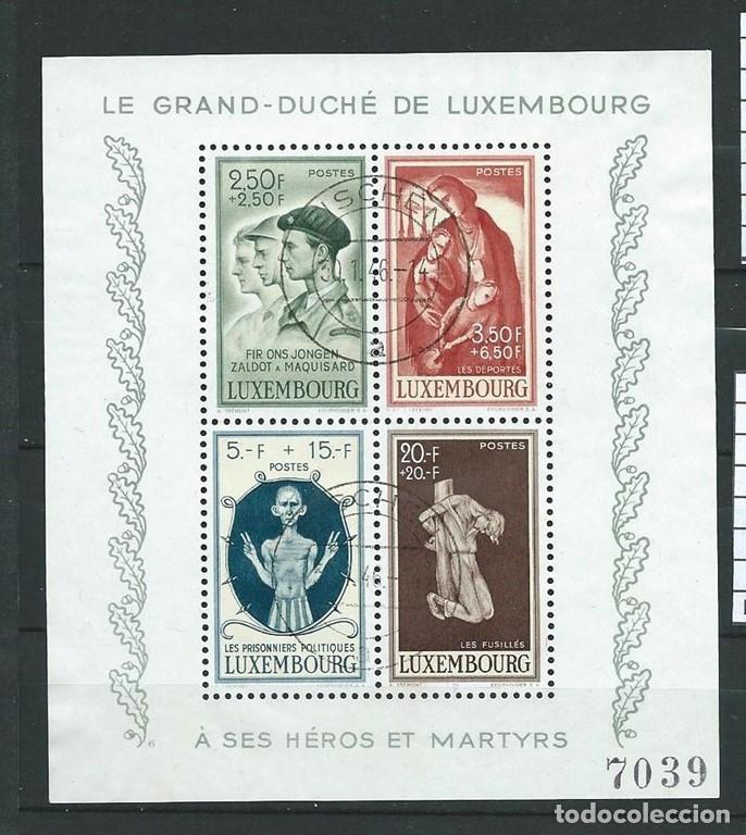 LUXEMBURGO,HOJA BLOQUE USADA YVERT Nº 5, 1946. (Sellos - Extranjero - Europa - Luxemburgo)