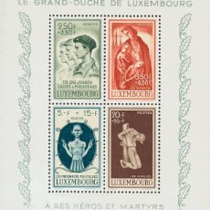 Sellos: LUXEMBURGO, AÉREO. MNH **YV 5. 1946. HOJA BLOQUE. MAGNIFICA. YVERT 2014: 32,5 EUROS. REF: 53587. Lote 183133952