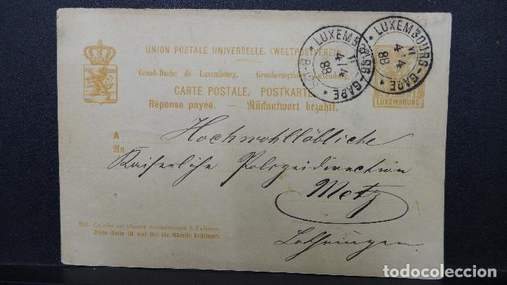 ENTERO POSTAL DE LUXEMBURGO CIRCULADO AÑO 1888 (Sellos - Extranjero - Europa - Luxemburgo)