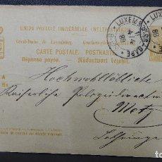 Sellos: ENTERO POSTAL DE LUXEMBURGO CIRCULADO AÑO 1888. Lote 183206881