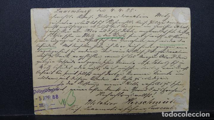 Sellos: ENTERO POSTAL DE LUXEMBURGO CIRCULADO AÑO 1888 - Foto 3 - 183206881