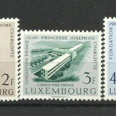 Sellos: LUXEMBURGO 1957- NUEVO CON FIJASELLO- FUNDACION PINCIPE JUAN Y JOSEPHINE(COMPLETA). Lote 183395195