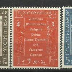 Sellos: LUXEMBURGO 1958- NUEVO CON FIJASELLO- CENTENARIO NACIMIENTO SAN WILLIBRORD. Lote 183395458
