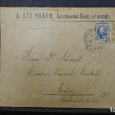 Sellos: CARTA DE LUXEMBURGO CON SELLO DE 25 CTS AÑO 1898. Lote 183519656
