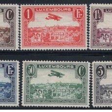 Sellos: SELLOS NUEVOS DE LUXEMBURGO, CORREO AEREO YT 1/ 6. Lote 194401558