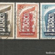 Sellos: LUXEMBURGO YVERT NUM. 514/516 SERIE COMPLETA USADA TEMA EUROPA. Lote 195423482