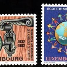 Sellos: LUXEMBURGO, N°1010/11 MNH, MOVIMIENTO SCOUT 1982 (FOTOGRAFÍA REAL). Lote 202471733