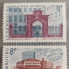 Sellos: LUXEMBURGO, N°979/80 MNH, ARQUITECTURA 1981(FOTOGRAFÍA REAL). Lote 202558020