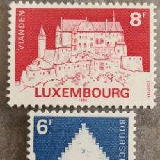 Sellos: LUXEMBURGO, N°1008/09 MNH, CASTILLOS 1982 (FOTOGRAFÍA REAL). Lote 202558591