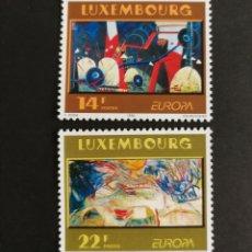 Sellos: LUXEMBURGO, EUROPA 1993,ARTE CONTEMPORÁNEO MNG (FOTOGRAFÍA REAL). Lote 203311122