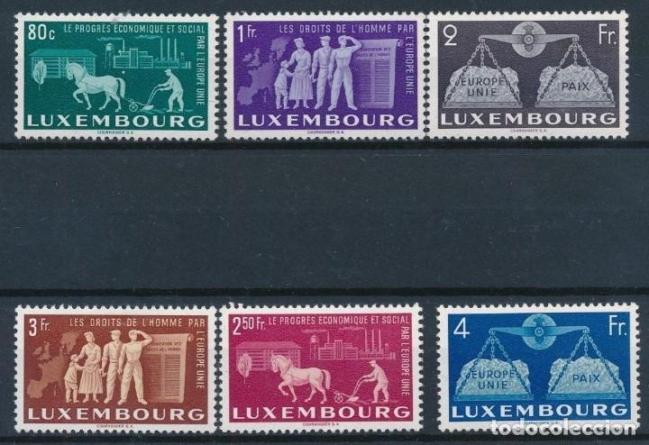 SELLOS LUXEMBURGO 1951 Y&T 443/48** UNIÓN EUROPEA (Sellos - Extranjero - Europa - Luxemburgo)