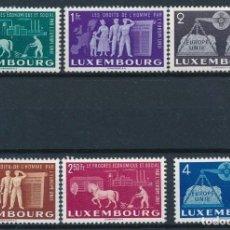 Sellos: SELLOS LUXEMBURGO 1951 Y&T 443/48** UNIÓN EUROPEA. Lote 204475075