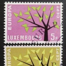 Sellos: LUXEMBURGO, EUROPA CEPT 1962 COMPLETA Y USADA (FOTOGRAFÍA REAL). Lote 205565252