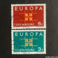 Sellos: LUXEMBURGO, EUROPA CEPT 1963 COMPLETA Y USADA (FOTOGRAFÍA REAL). Lote 205571413