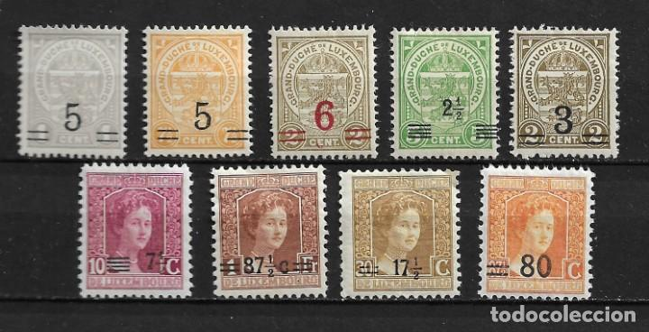 LUXEMBURGO, SOBRECARGADOS, 1916-24,YVERT VARIOS, NUEVOS CON CHARNELA (Sellos - Extranjero - Europa - Luxemburgo)