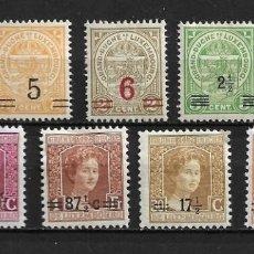 Sellos: LUXEMBURGO, SOBRECARGADOS, 1916-24,YVERT VARIOS, NUEVOS CON CHARNELA. Lote 206283011