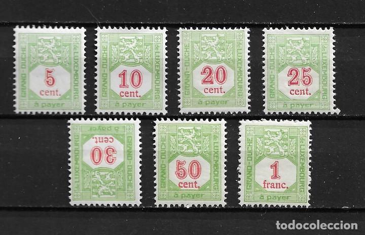 LUXEMBURGO, SELLOS TAXA, 1922,YVERT 10-16, NUEVO CON CHARNELA (Sellos - Extranjero - Europa - Luxemburgo)