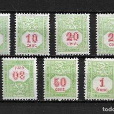 Sellos: LUXEMBURGO, SELLOS TAXA, 1922,YVERT 10-16, NUEVO CON CHARNELA. Lote 206283876