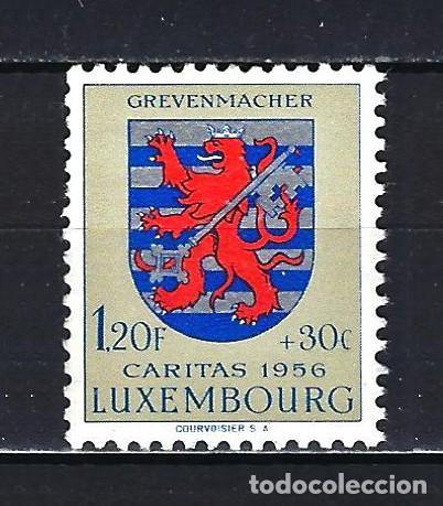 1956 LUXEMBURGO MICHEL 563 YVERT 522 - ESCUDO -CÁRITAS - MNH* NUEVO SIN FIJASELLOS (Sellos - Extranjero - Europa - Luxemburgo)